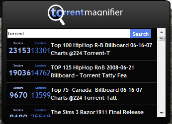 Torrent Magnifier, cercare torrent dal desktop