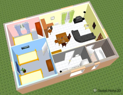 Sweet home 3d un applicazione per arredamenti d 39 interni for Home sweet home arredamento