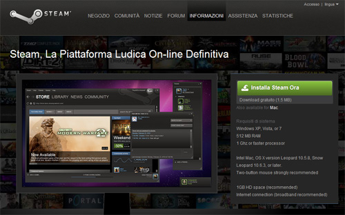 Arriva Steam per Mac