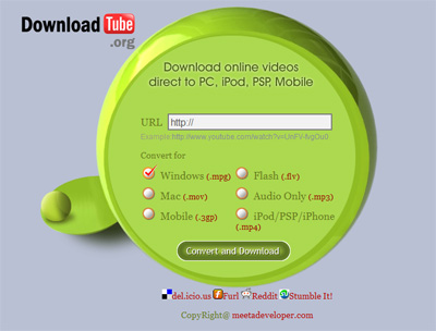 downloadtube DownloadTube, scarica e converti i video da Youtube