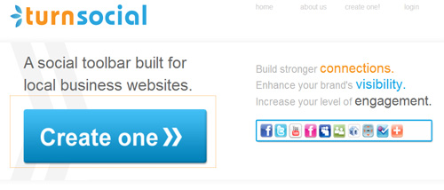 TurnSocial, costruitevi la toolbar social