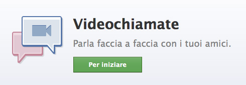 Disponibile la videochat su Facebook