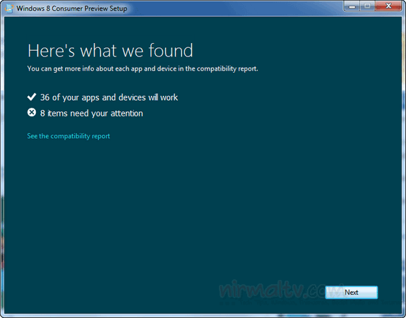 Tool per la compatibilità a Windows 8