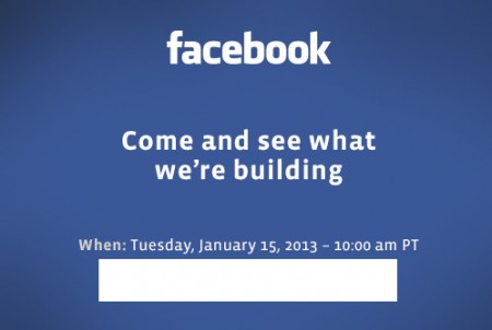 Evento Facebook il prossimo 15 Gennaio