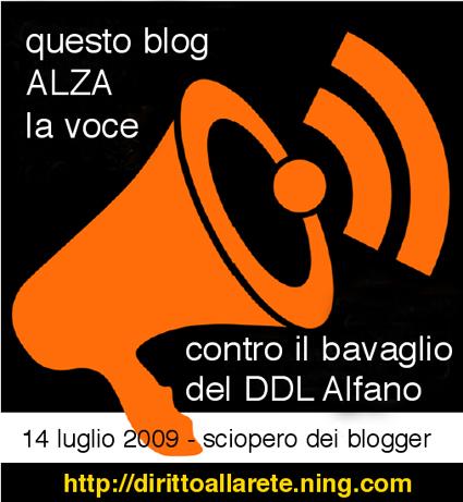 SCIOPERO BLOGGER 14 LUGLIO 2009